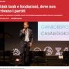 OpenPolis: Think tank e fondazioni, dove non arrivano i partiti