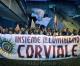 Corviale: fiaccolata di solidarietà dopo l'incendio al Calcio sociale