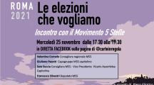 Backstage Roma 2021 – 25 novembre Incontro con il Movimento 5 Stelle