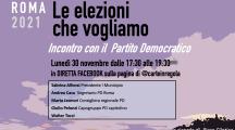 Backstage Roma 2021 – 30 novembre Incontro con il Partito Democratico
