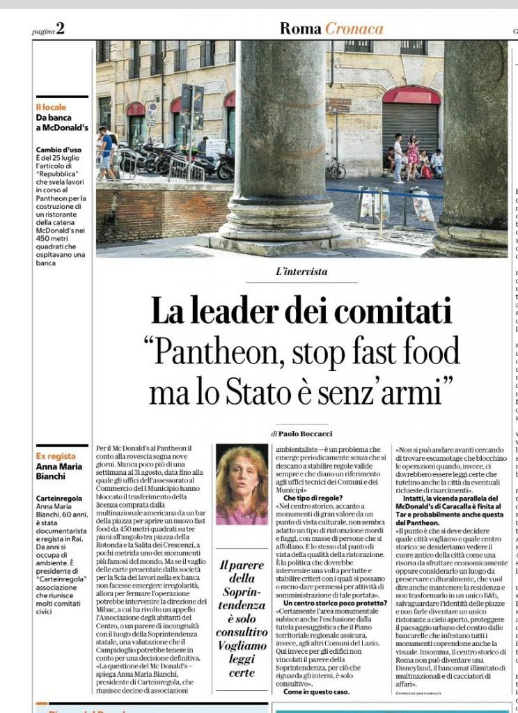 repubblica 22 agosto - Pantheon carteinregola