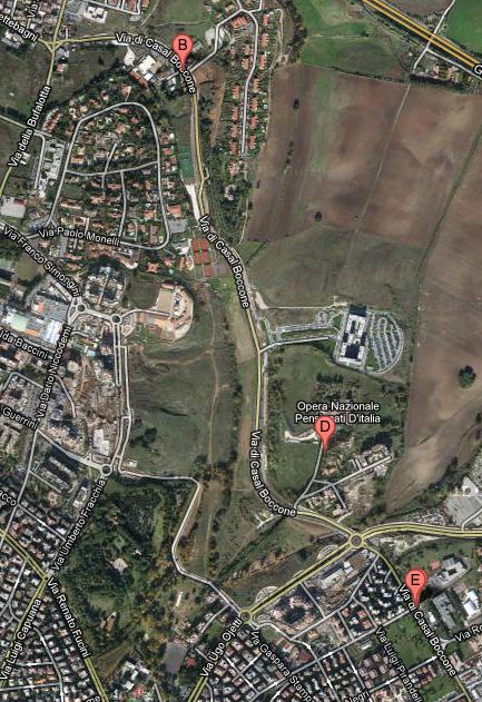 Via di Casal Boccone map