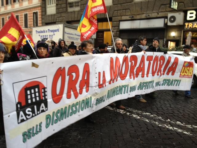 la manifestazione dle 19 gennaio Roma non è in vendita