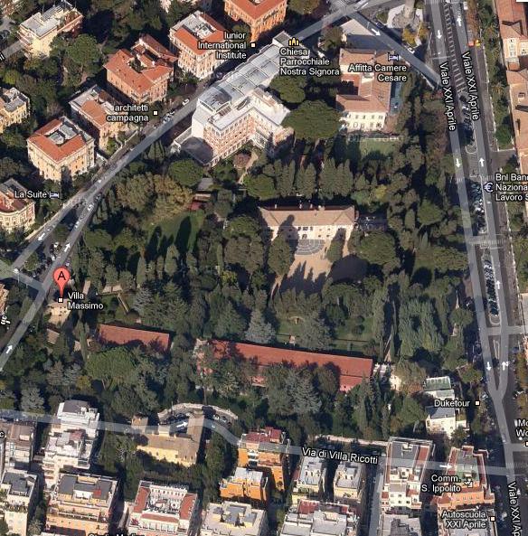 villa massimo map