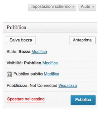 wordpress pubblica