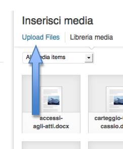 blog aggiungi media up load