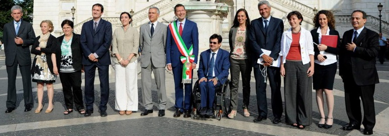 Foto dal sito di Roma Capitale dopo la nomina della Giunta nel giugno 2013