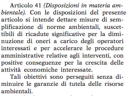 art. 41 decreto del fare 21 giugno 2013