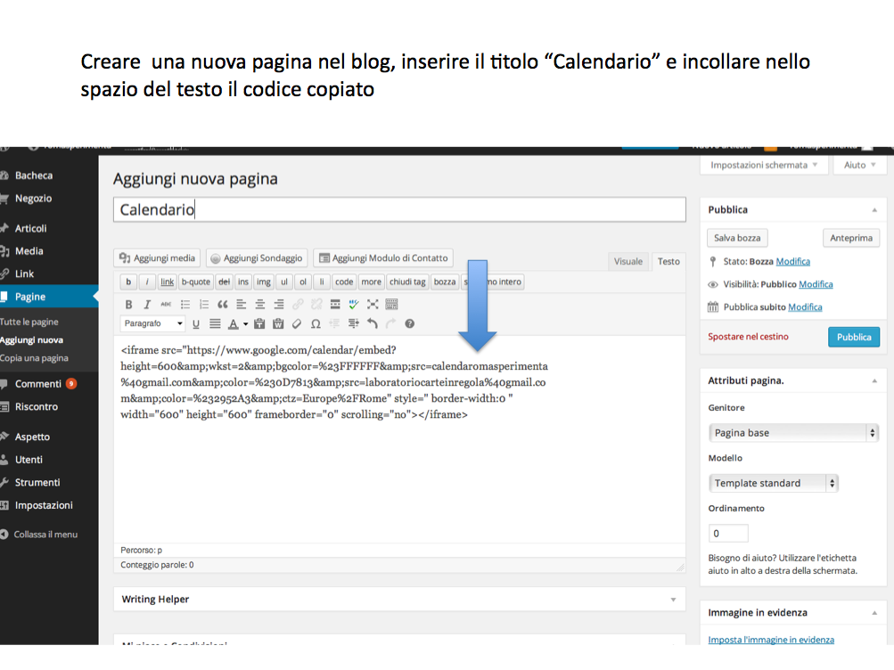 istruzioni calendario blog 7