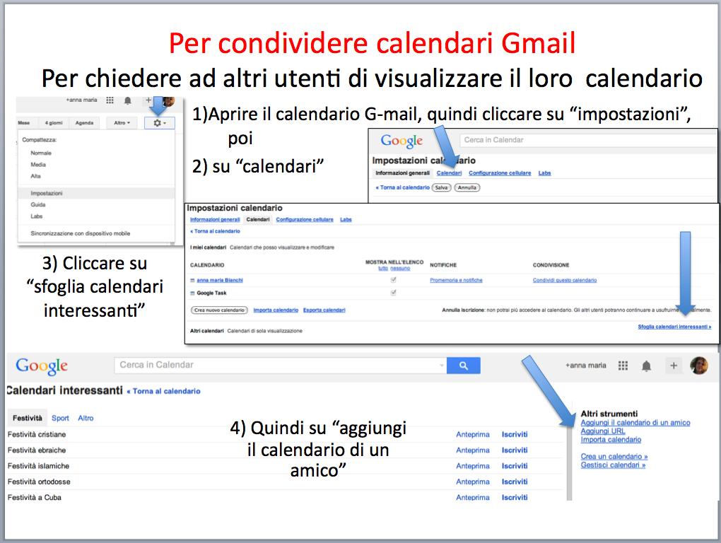 istruzioni condividere calendario gmail 1