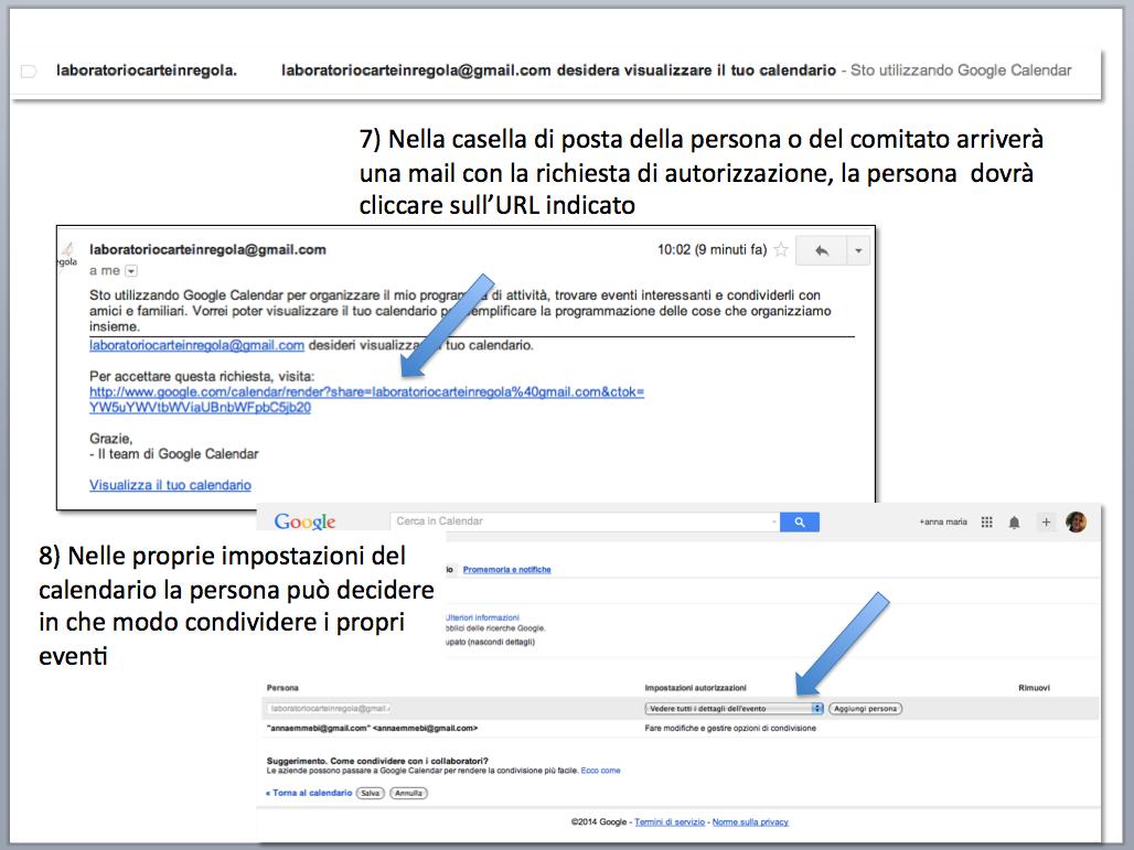 istruzioni condividere calendario gmail 3