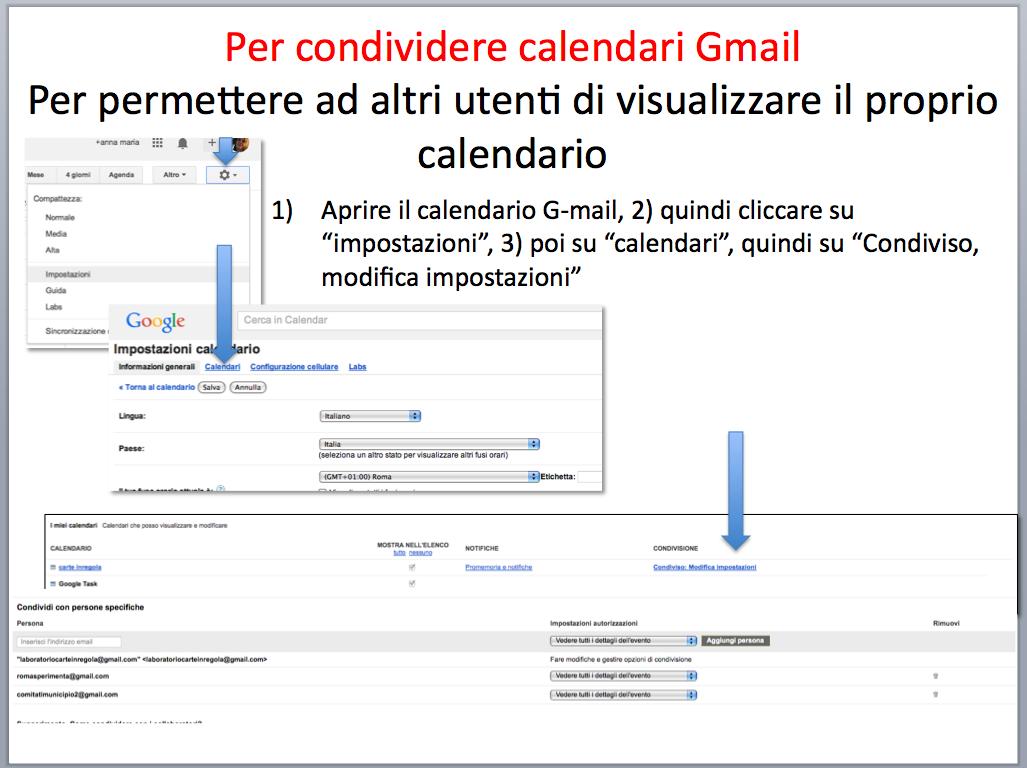 istruzioni condividere calendario gmail 5