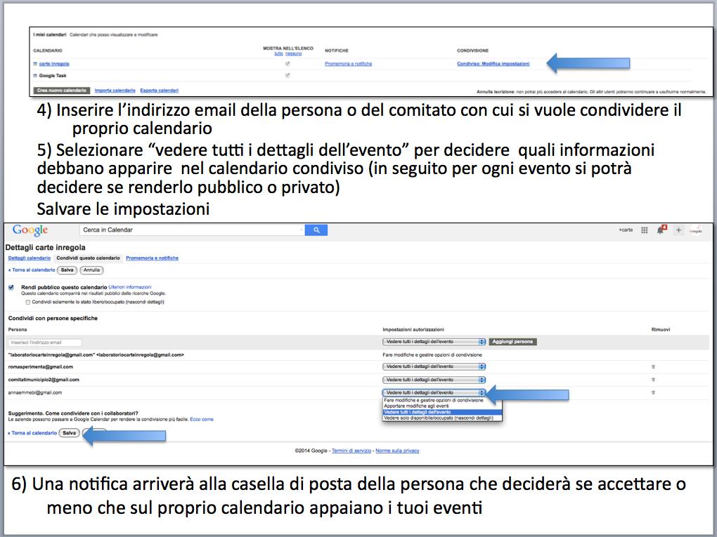 istruzioni condividere calendario gmail 6