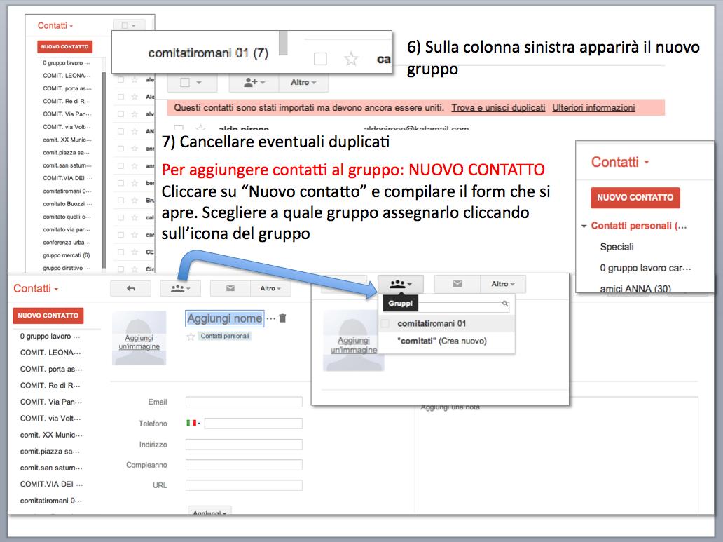 istruzioni gestione account posta Gmail - gruppi di contatti 06