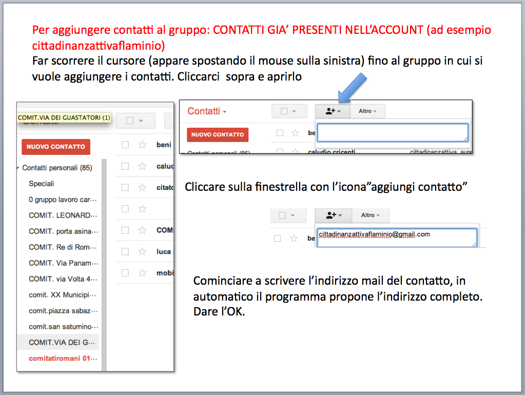 istruzioni gestione account posta Gmail - gruppi di contatti 07