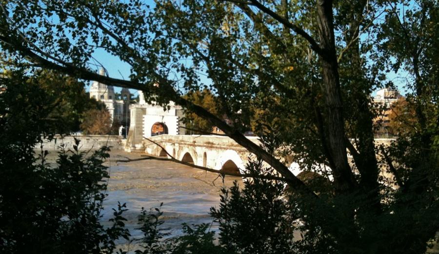 Ponte Milvio, rischio esondazione del Tevere nel 2013 (foto AMBM)