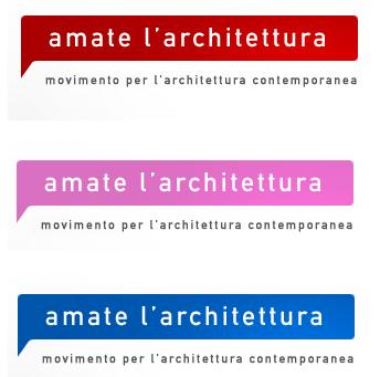 3 loghi amate l'architettura