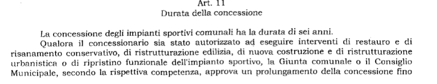 art.11 delib impianti sportivi 2001 a