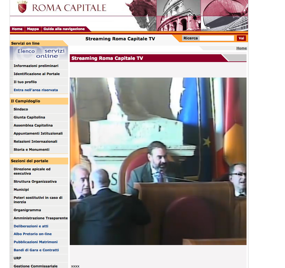 streaming campidoglio