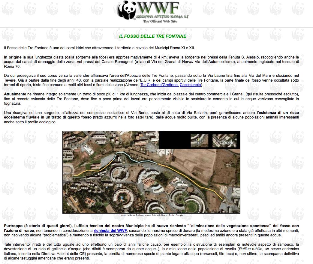 testata sito wwf 3 fontane