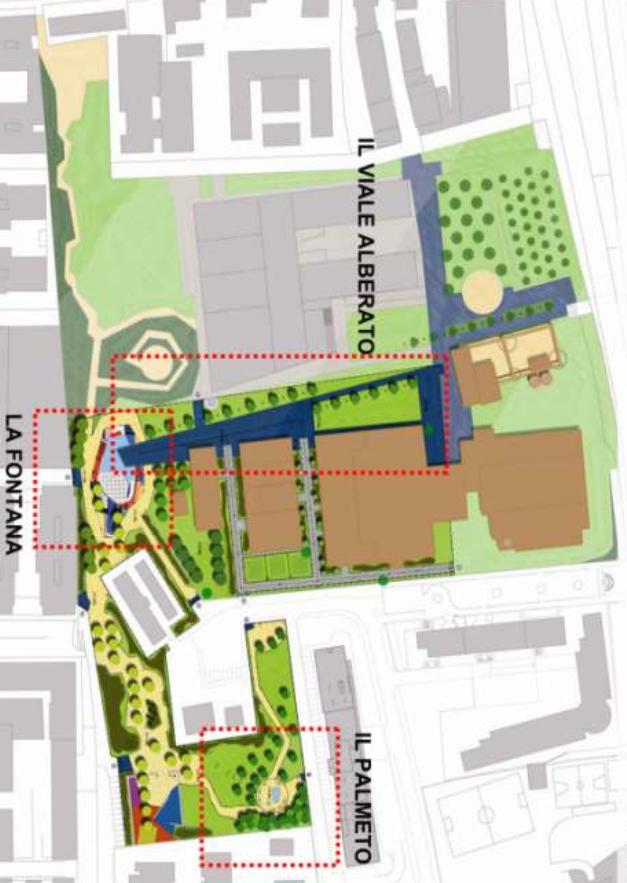 Una delle tavole del progetto per la Casa dello studente e il Parco Papareschi