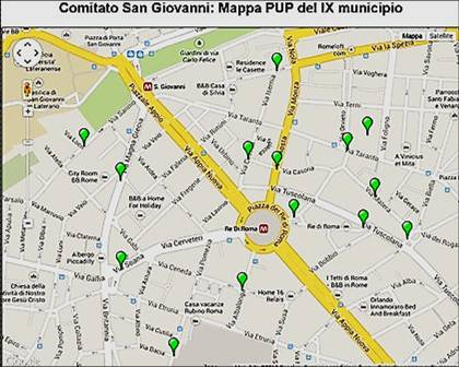 Foto 4. Mappa PUP SG