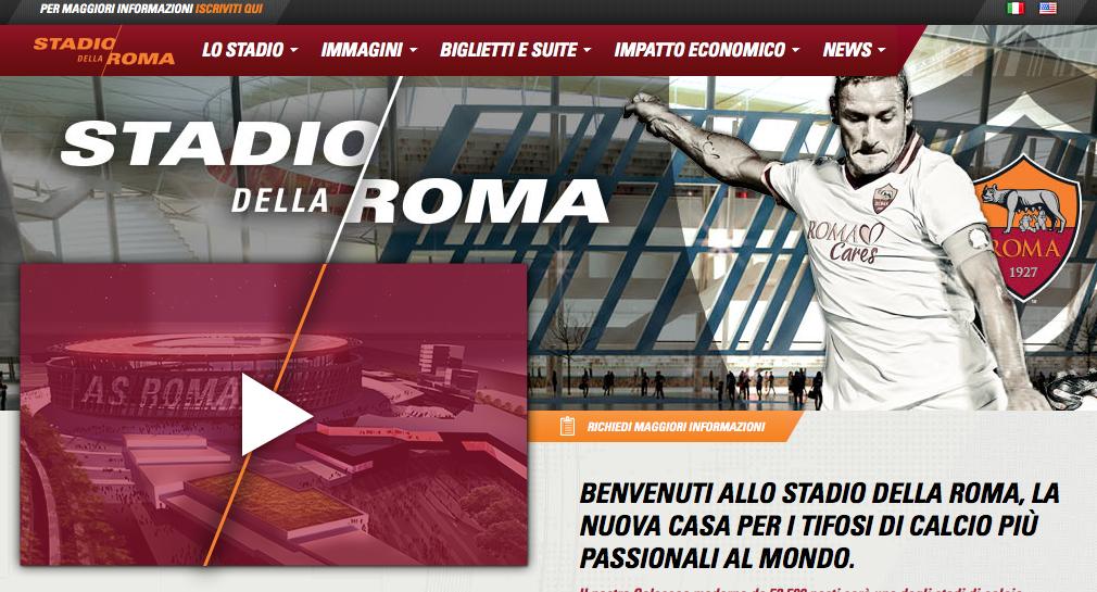 dal sito lo stadio della Roma