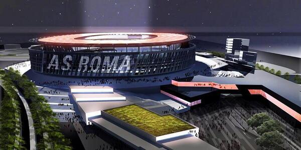 rendering dal sito Stadio della Roma