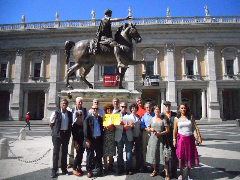 Campidiglio consegna firme delibera rumori agosto 2014