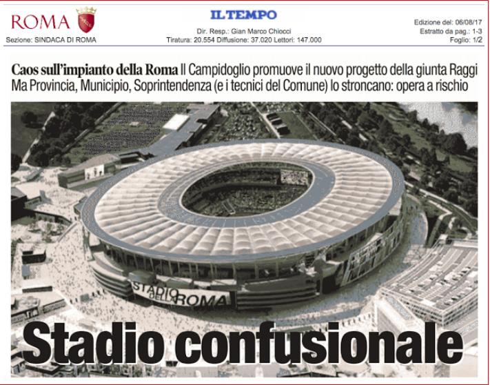 copertina art magliaro 6 agosto 2017 stadio confusionale