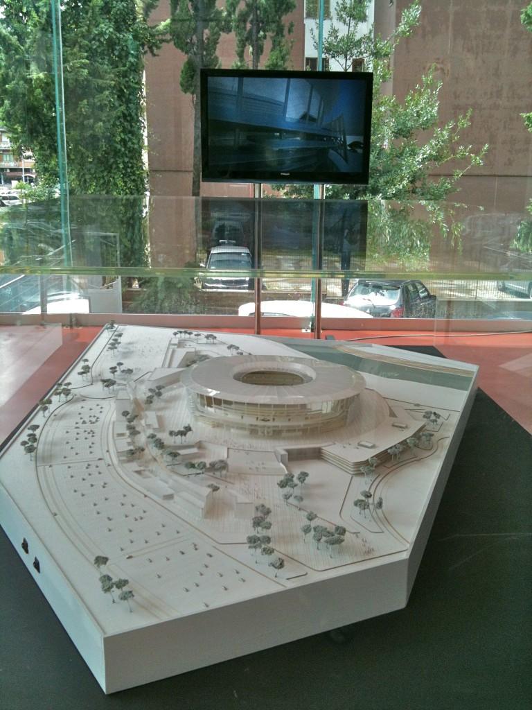 Il plastico del nuovo stadio alla Casa della città dal 14 luglio scorso