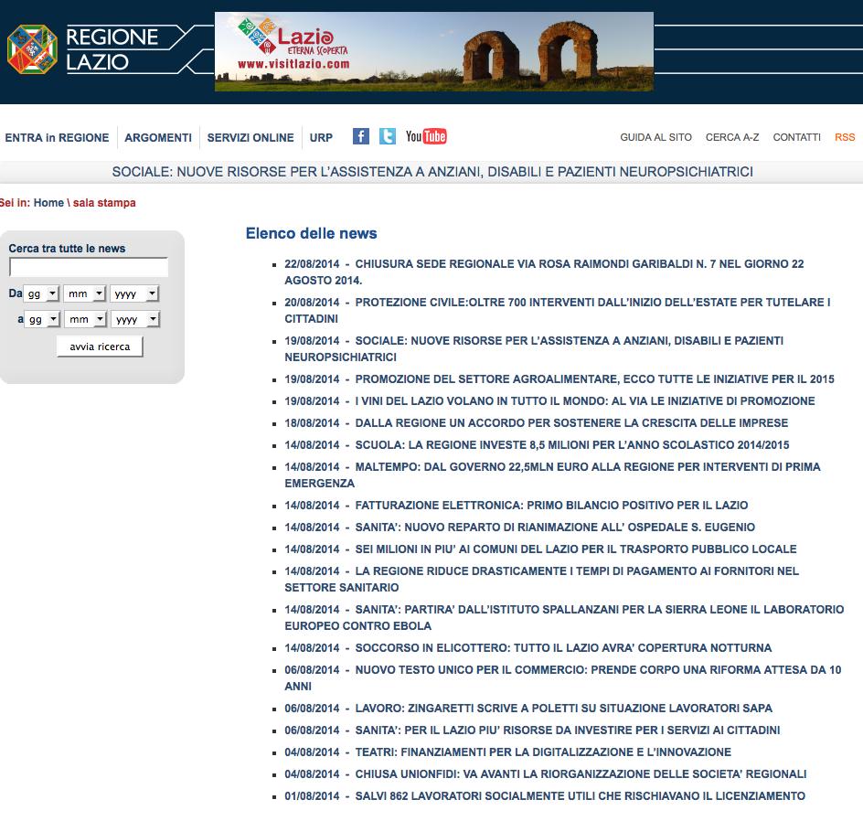 Schermata sito Regione Lazio  2014-08-23 alle 17.27.17