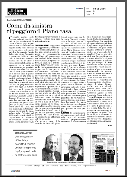 carteinregola piano casa -Il-Fatto-Quotidiano-8-agosto-2014