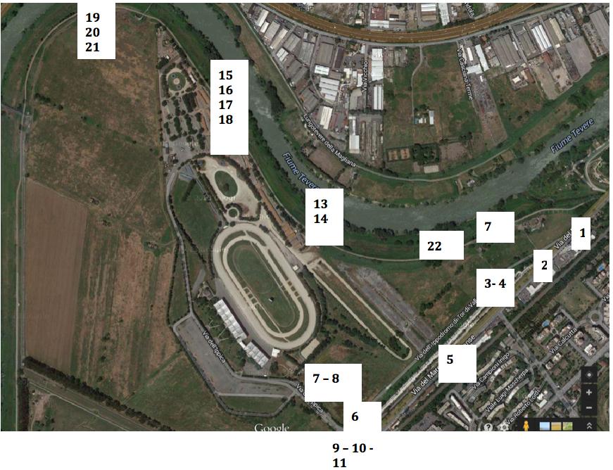 mappa foto tor di valle numeri