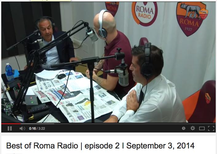 Pallotta intervistato da radio Roma il 3 settembre
