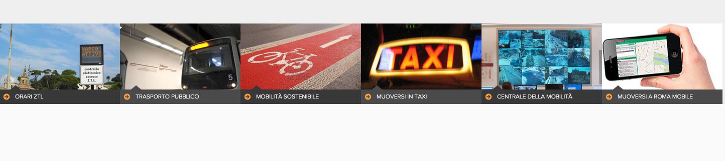 Schermataagenzia mobilità per testata