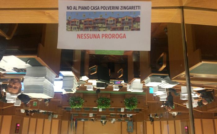Durante il Presidio di Carteinregola alla Pisana, ottobre 2014