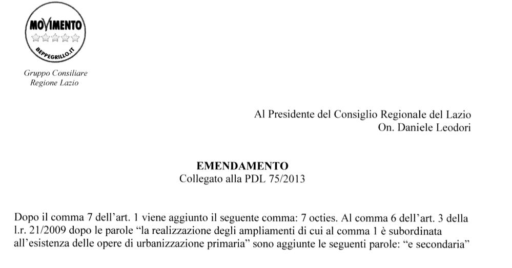 emendamento m5s 1494