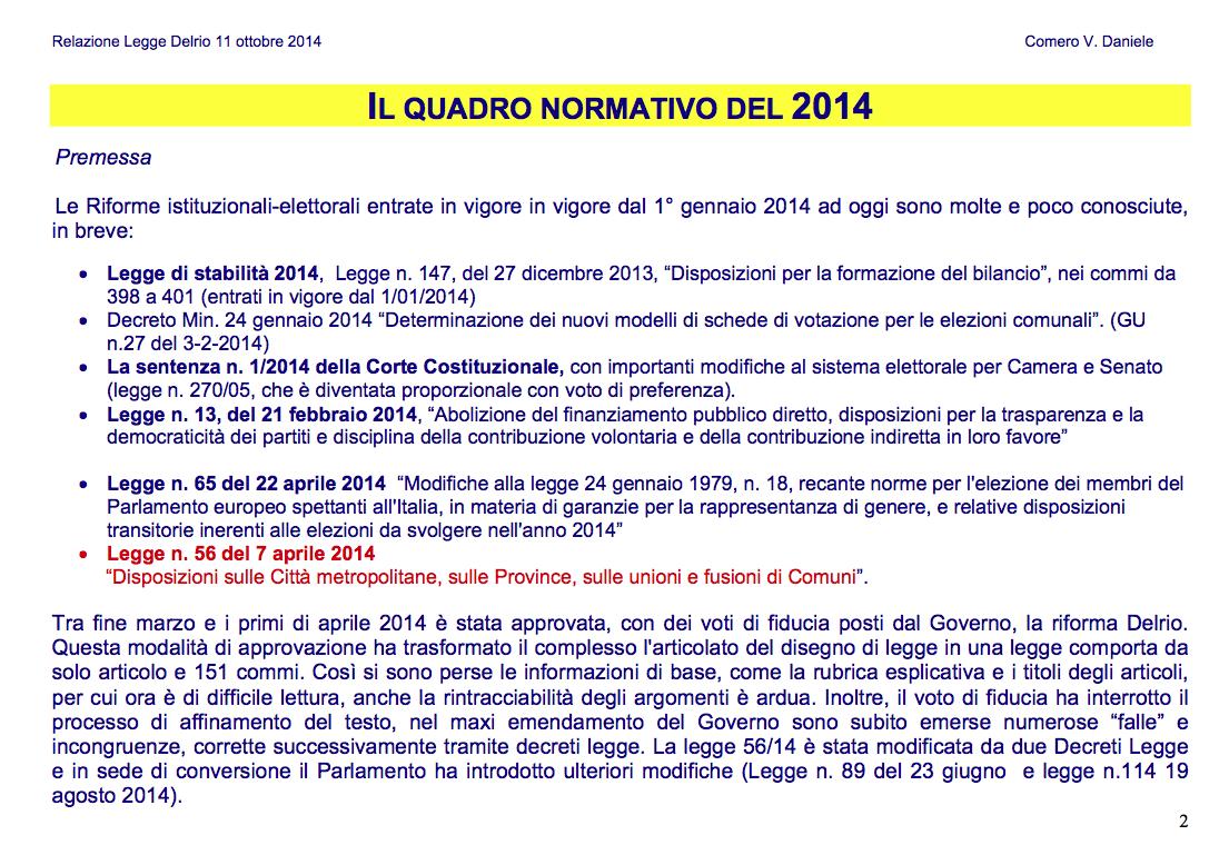 2 DELRIO-Slide per ASSEMBLEA 11-10-2014