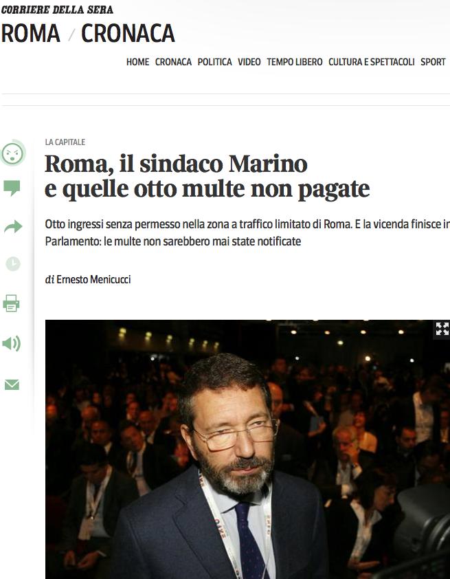 Corriere sito multe marino 7 novembre
