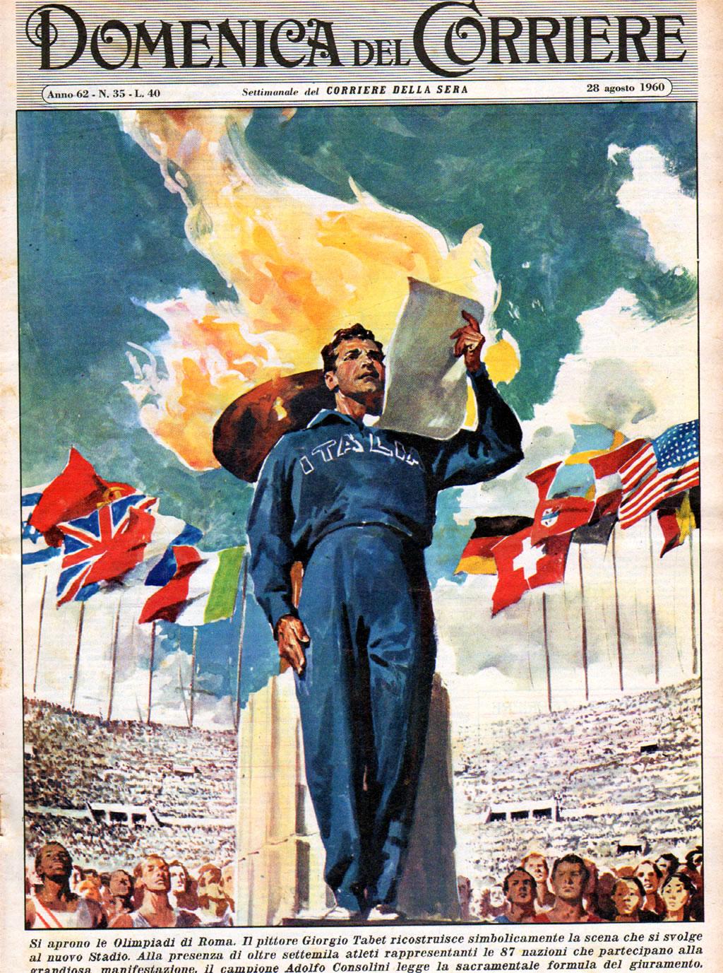 Copertina del pittore Giorgio Tabet, 1960