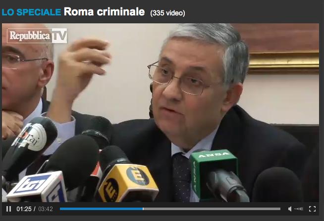 Giuseppe Pignatone, immagine tratta dal video della conferenza stampa del 3 dicembre 2014