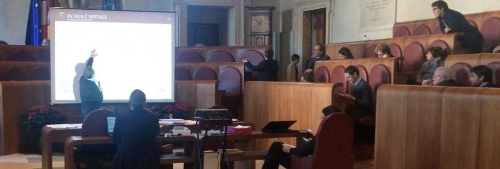 Giovanni Caudo spiega il progetto dello Stadio della Roma in Assemblea Capitolina il 17 dicembre  2014