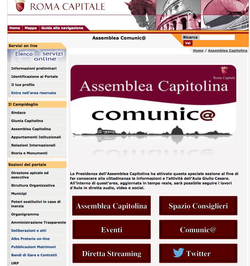 sito assemblea capitolina dicembre 2014