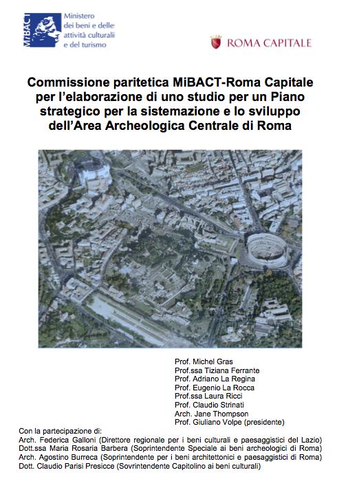 copertina paritetica MIBACT-Roma Capitale per Fori