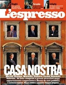 La copertina del settimanale L'Espresso del 30 agosto 2007
