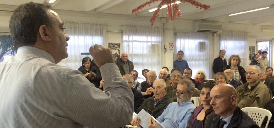 Un momento dell'Assemblea del 20 marzo a cui ha partecipato l'assessore Caudo
