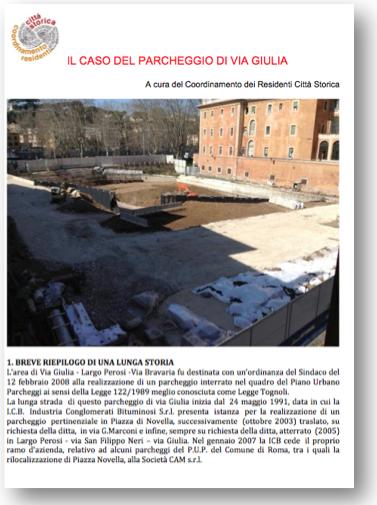 copertina dossier via giulia 24 marzo 2015 2
