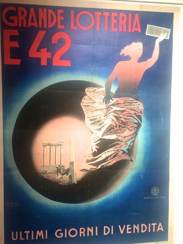 Un'immagine della mostra sull'EUR