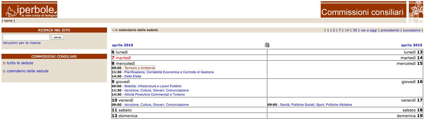 Bologna convocazione delle commissioni 2